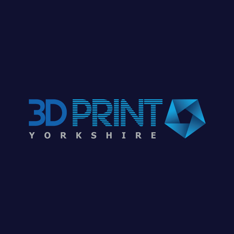 3D Print Yorkshire square business logo with dark blue background.